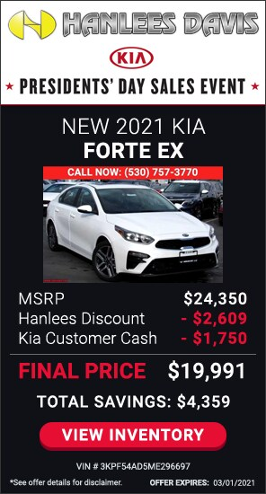 Up to $4,359 off MSRP - New 2021 Kia Forte EX