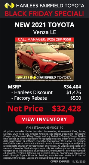 Up to $1,976 off MSRP - New 2021 Toyota Venza LE