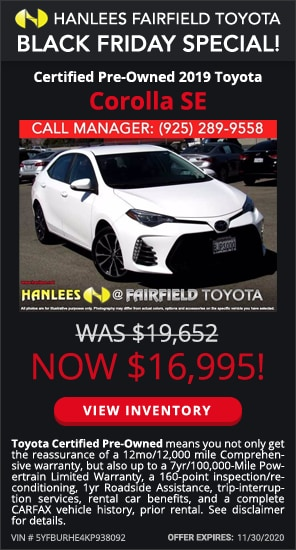 $16,995 - Certified Pre-Owned 2019 Toyota Corolla SE
