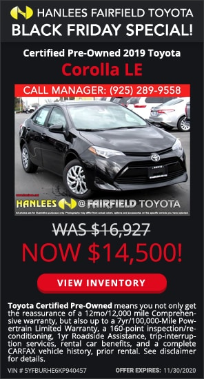 $14,500 - Certified Pre-Owned 2019 Toyota Corolla LE