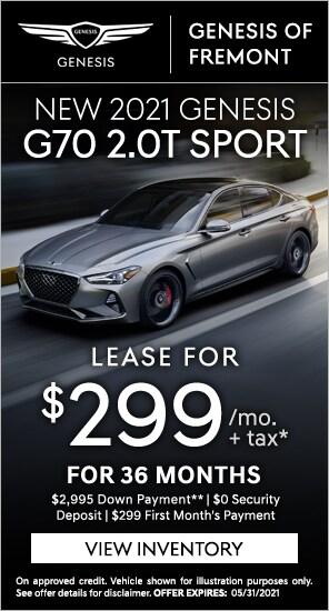 Lease a New 2021 Genesis G70 2.0T Sport