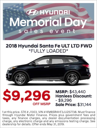 NEW 2018 SANTA FE LTD ULT FWD *FULLY LOADED*