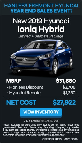 $3,958 off MSRP - New 2019 Hyundai Ioniq Hybrid Limited + Ultimate Package