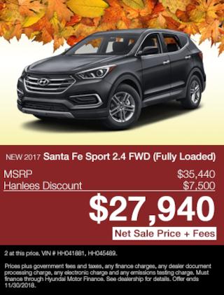 New 2017 Hyundai Santa Fe Sport 2.4 FWD