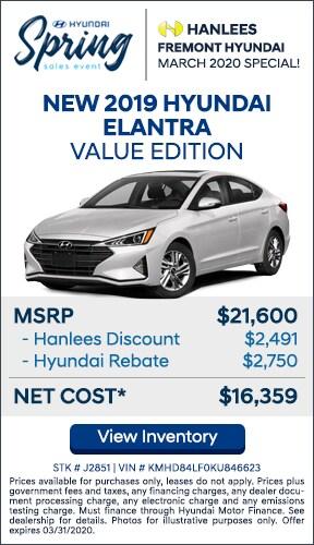 $5,241 off MSRP - New 2019 Hyundai Elantra Value Edition