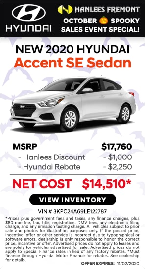 Up to $3,250 off MSRP - New 2020 Hyundai Accent SE