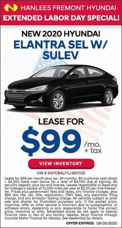 New 2020 Hyundai Elantra SEL w/ SULEV