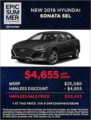 New 2019 Hyundai Sonata SEL