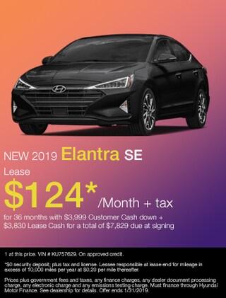 New 2019 Hyundai Elantra SE