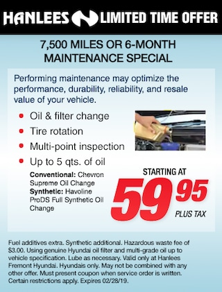 7,500 Miles or 6-Month Maintenance Special