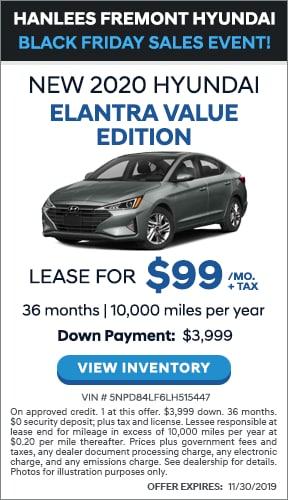 $99/mo. + tax - New 2020 Hyundai Elantra Value Edition
