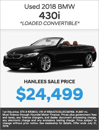 USED 2018 BMW 430I (LOADED CONVERTIBLE)