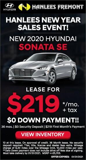 $219 per month - Lease Special - New 2020 Hyundai Sonata SE