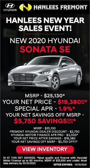 Up to $5,750 off MSRP - New 2020 Hyundai Sonata SE
