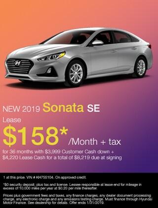 New 2019 Hyundai Sonata SE