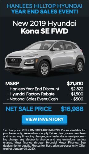 $4,822 off MSRP - New 2019 Hyundai Kona SE FWD