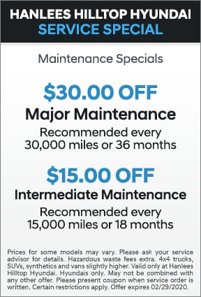 Maintenance Specials
