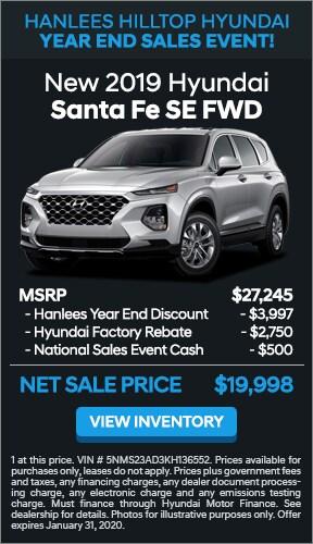 $7,247 off MSRP - New 2019 Hyundai Santa Fe SE FWD