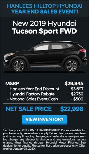 $6,947 off MSRP - New 2019 Hyundai Tucson Sport FWD