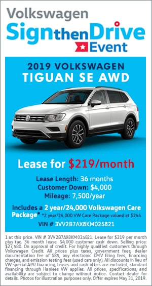 Sign Then Drive - 2019 VW Tiguan SE AWD