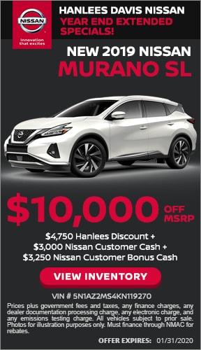 $10,000 off MSRP - New 2019 Nissan Murano SL
