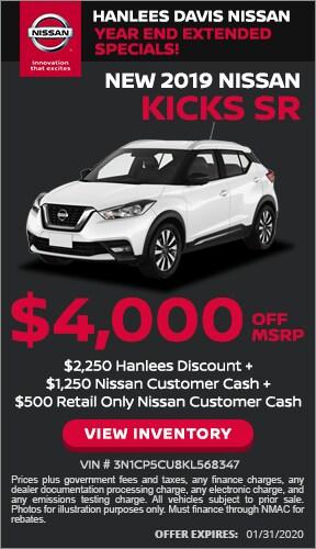 $4,000 off MSRP - New 2019 Nissan Kicks SR