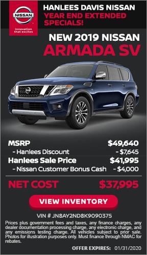 $11,645 off MSRP - New 2019 Nissan Armada SV