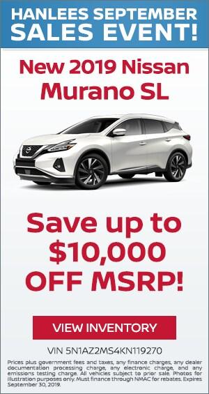 New 2019 Nissan Murano SL