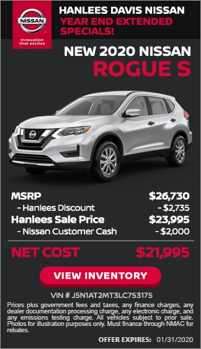 $4,735 off MSRP - New 2020 Nissan Rogue S