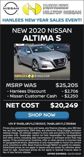 Up to $4,956 off MSRP - New 2020 Nissan Altima S