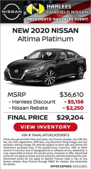 New 2020 Nissan Altima Platinum