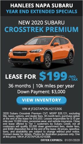 $199/mo. + tax - New 2020 Subaru Crosstrek Premium