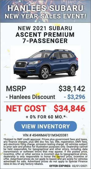 Up to $3,296 off MSRP - New 2021 Subaru Ascent Premium 7-Passenger