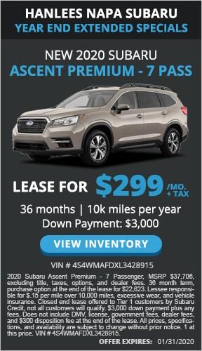 $299/mo. + tax - New 2020 Subaru Ascent Premium