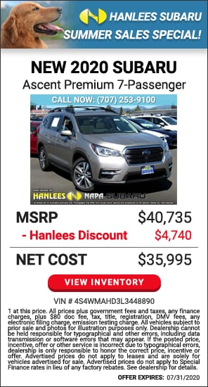 $4,740 off MSRP - New 2020 Subaru Ascent Premium 7-Passenger