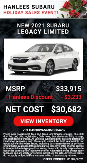 Up to $3,233 off MSRP - New 2021 Subaru Legacy Limited