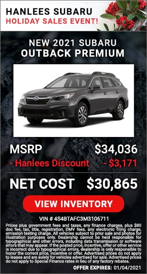 Up to $3,171 off MSRP - New 2021 Subaru Outback Premium