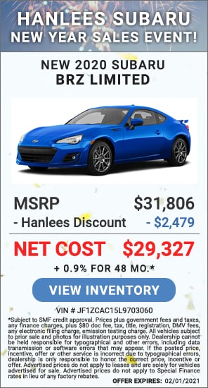 Up to $2,479 off MSRP - New 2020 Subaru BRZ Limited