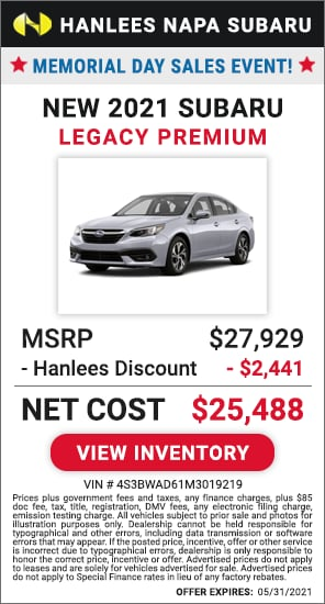Up to $2,441 off MSRP - New 2021 Subaru Legacy Premium