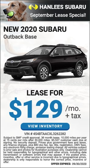 Lease for $129 per month plus tax - New 2020 Subaru Outback Base