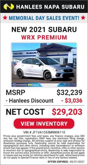 Up to $3,036 off MSRP - New 2021 Subaru WRX Premium