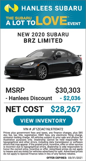 Up to $2,036 off MSRP - New 2020 Subaru BRZ Limited