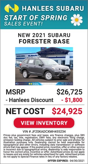 Up to $1,800 off MSRP - New 2021 Subaru Forester Base