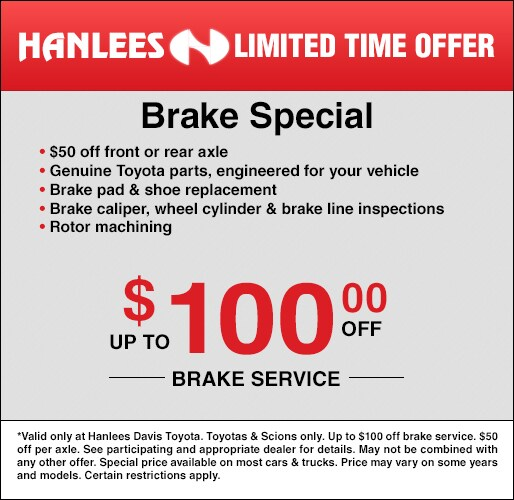 photograph relating to Toyota Service Coupons Printable named Services Bargains Hanlees Davis Toyota