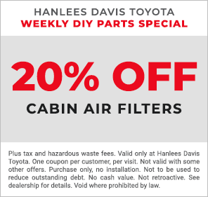 Weekly DIY Parts - 20% off Cabin Air Filters