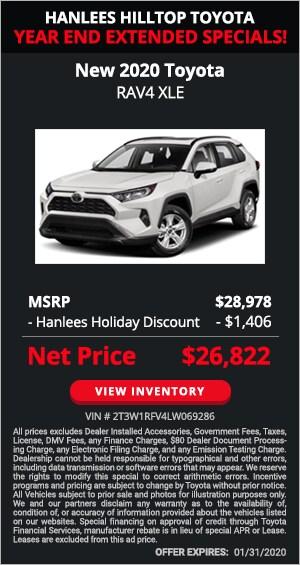 $1,406 off MSRP - New 2020 Toyota RAV4 XLE