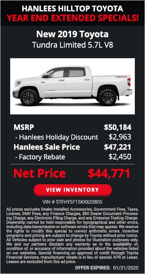 $5,413 off MSRP - New 2019 Toyota Tundra Limited 5.7L V8