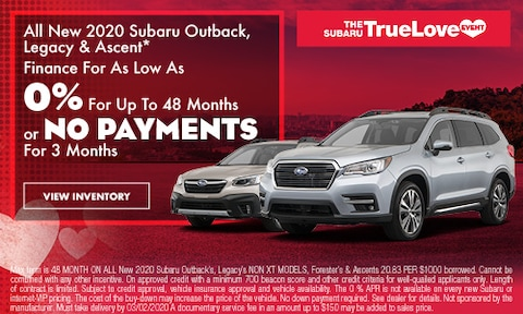0% Financing Ascent, Legacy, Outback