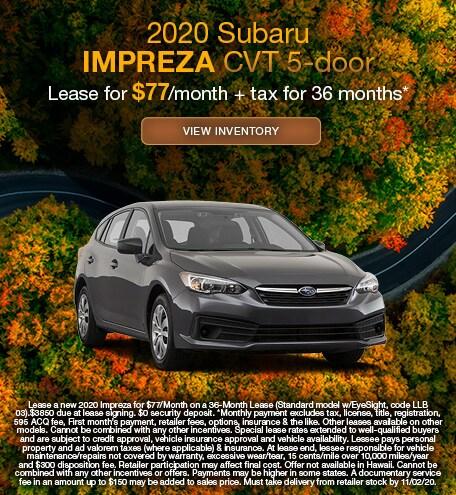 2020 Subaru Impreza CVT 5-door