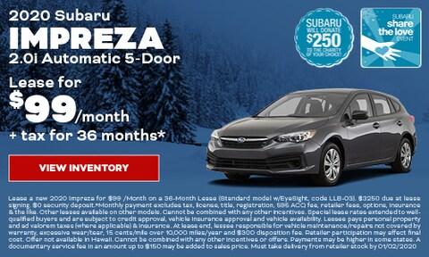 2020 Subaru Impreza Lease